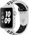 Apple - Apple Watch Nike+ Series 3 (GPS), 43mm Silver Aluminum Case with Pure Platinum/Black Nike Sport Band - Silver Aluminum