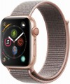 Apple - Apple Watch Series 4 (GPS + Cellular), 44mm Gold Aluminum Case with Pink Sand Sport Loop - Gold Aluminum