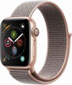 Apple - Apple Watch Series 4 (GPS), 40mm Gold Aluminum Case with Pink Sand Sport Loop - Gold Aluminum